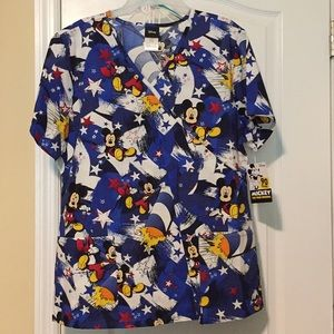 Mickey Mouse Scrub Top